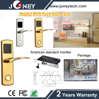 Hotel digital smart card door lock with free hotel management software