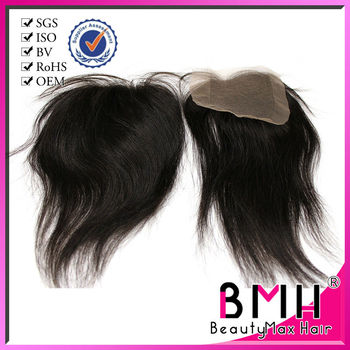 human hair popular fashion two tone lace closure piece