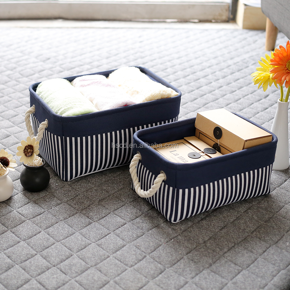 home organization Fabric Storage bench storage baskets