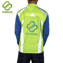 Professional manufacture fluorescent cycling jacket night running gear