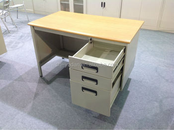Steel Office Desk With Locking Drawers/metal Furniture Used Computer Desk  In USA Market