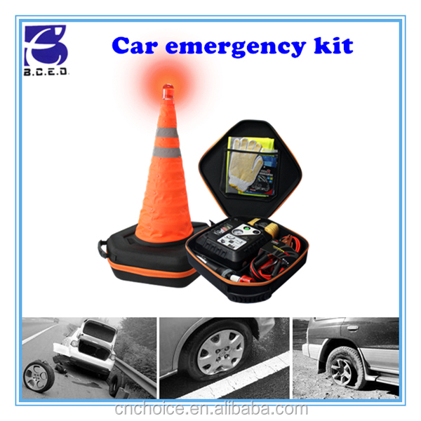 Hot car accessory road assistance set, emergency repair tool car maintenance kit for SUV or smart car