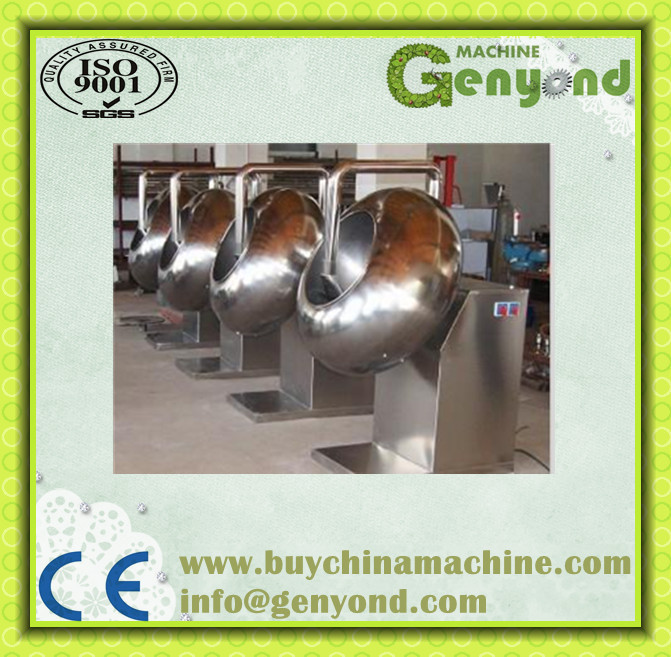 automatic stainless stall nut suger chocolate enrobing&coating pan machine
