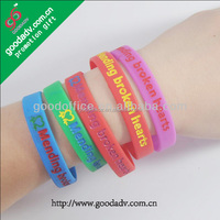 2014 Hot selling engraved logo eco-friendly silicone bracelet