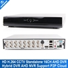 16 Channel Full AHD 720P 960H Real time Recording Playback With HDMI 1080P 16Ch Hybrid DVR NVR Onvif CCTV Recorder 3531 Chips