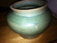 Antique Chinese Celadon Vase Excavated in the Philippines