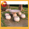 outdoor garden stone table tops and bench for sale cheap