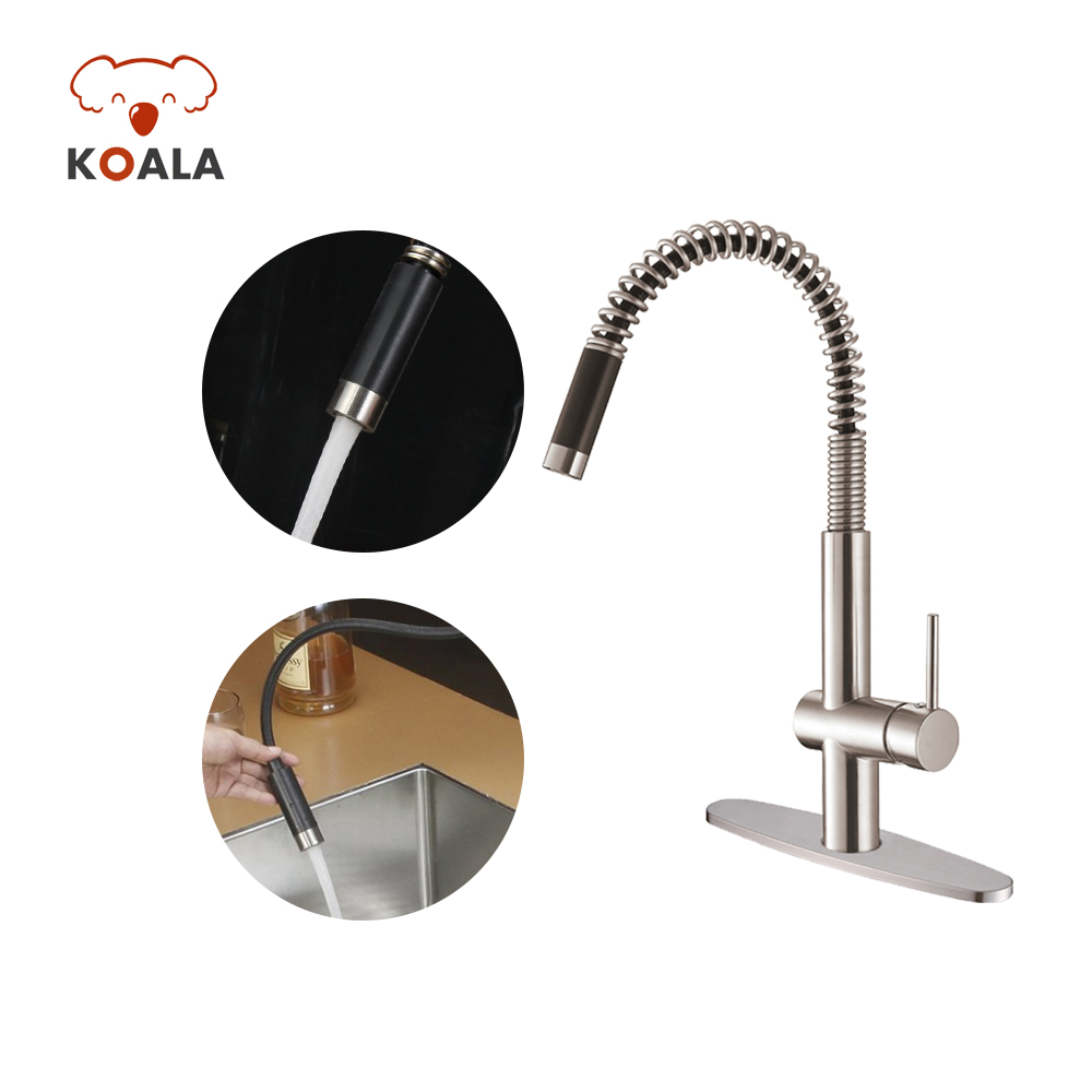 Nsf 61 9 Upc Pull Down Water Saving Tap Small Spring Pull Out Spout Kitchen Faucet With Led Light Buy Wholesale Cheap Price 360 Swivel Bib Solid