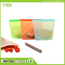 Low price durable food grade non smell reusable silicone food container bag wrap
