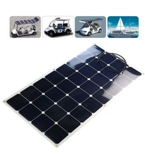 Most Poular Amorphous Silicon Solar Panel Frameless Solar Panel Flexible 50W 100W 210W 225W Solar Module For Home Use