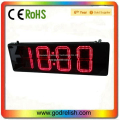 cheap hot sale 8 inch 4 digit indoor red led wall clock