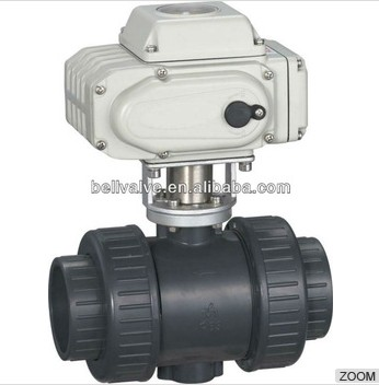 water treatment Electric Plastic Ball Valve with actuator /Ball value for water treatment