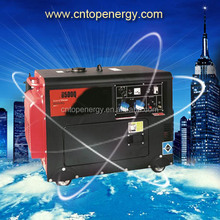 China Manufacturer 4 Stroke Electric Start 5kw Diesel Power Electric Generators With AVR , Low Oil Alarm System Air Cooled