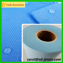 SMS and SSS hydrophobic nonwoven fabric as diapers raw material used for diapers mat making