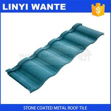 Shandong Wante Wholesale High Quality aluminium stone granule coated steel roof tile with Long Service Life