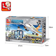 Plastic plane toy airport play set