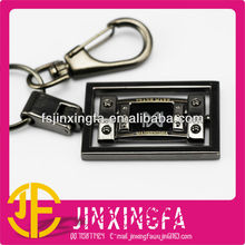 2013 Fashion Customized Laser Shiny Black Metal Key Chains
