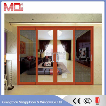 Factory price aluminum sliding glass door with flyscreen for Aluminum sliding glass doors price