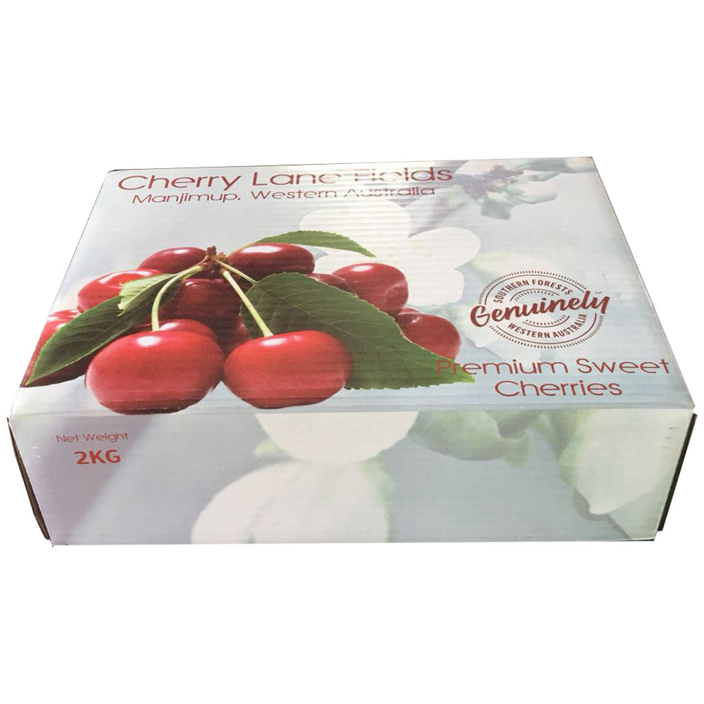 Hard duty lid and bottom paper packing for 2-15kg cherry fresh fruit and vegetable on sale