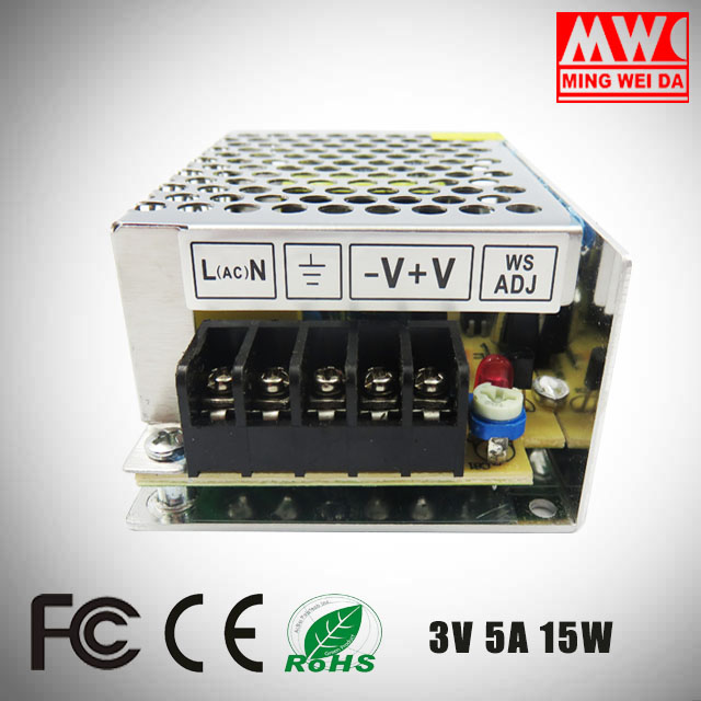 2017 new style switch mode power supply 15V 1A 15W S-15-15 in China factory low price