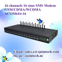 voip 16 sims 16 channel gsm/cdma/wcdma usb sms software goip modem 3g ethernet gateway