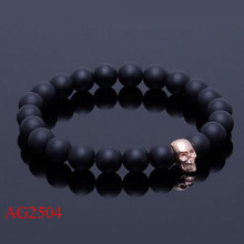 New fashion pure mysterious black beads bracelet with good luck