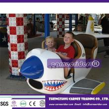 Park amusement machine happy flying tiger/shark/sea horse for children and adults