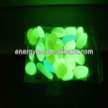 Photoluminescent Pebble stone/self luminous luminescent vinyl stone/