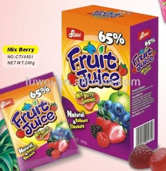65% Fruit Juice Mix Berry candy