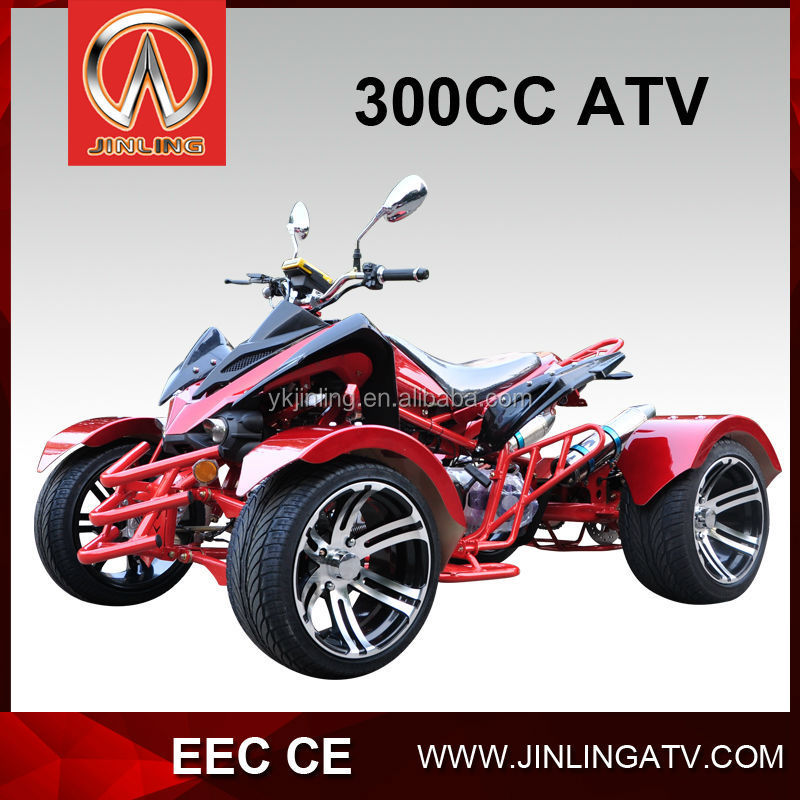 300cc quad bike road legal water cooled /chain drive CVT cheap atv