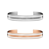 2019 New Design Bangle Stainless Steel Women Men Cuff Bracelet Rose Gold In Stock
