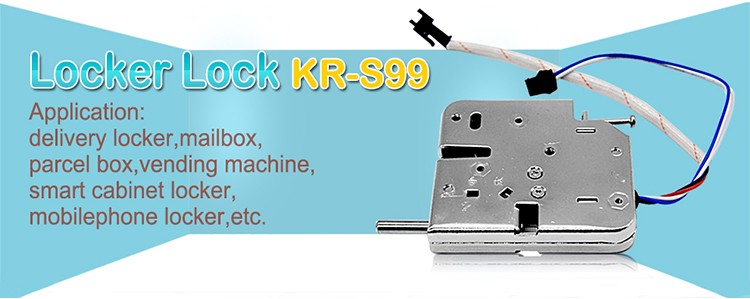 Kiosk self-service storage cabinet electronic magnetic lock