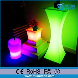 remote control rgb color illuminated led glowing cocktail table bars disco furniture