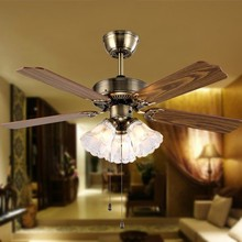 Hot sale Ceiling fan light antique LED light American country fan lamp