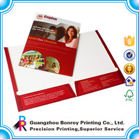 Alibaba China wholesalers high quality custom logo design printing paper cardboard file folder
