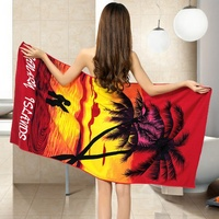 YX-00143 hot sale China suppliers costom coconut tree microfiber beach towels
