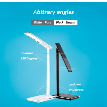 Eye-Care LED Desk Lamp, Highly Adjustable Arm, Touch-Sensitive Control Panel, 4 Lighting Modes, Auto Timer