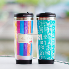 B03-1997 Hot Sale 12OZ Double Wall Plastic Travel Mug With Lid