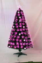 Xibao brand Pink color outdoor fiber optic christmas tree christmas decoration 20ft 30ft 40ft 50ft giant outdoor lighting christ