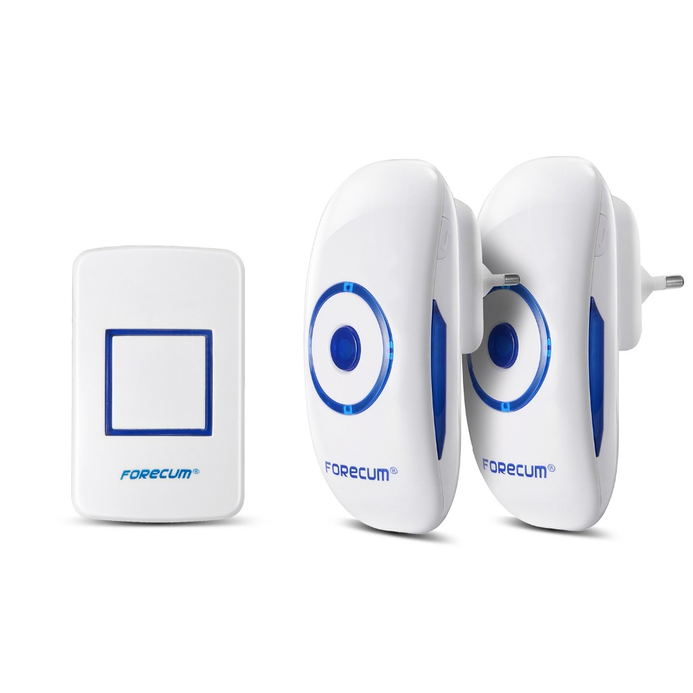 FORECUM brand 300m Wireless digital door chime 36 melody AC/DC wireless door bell Waterproof IP 54 Wireless doorbell