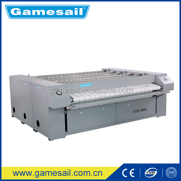 3000mm full automatic flat iron function energy efficient flatwork ironer for hospital