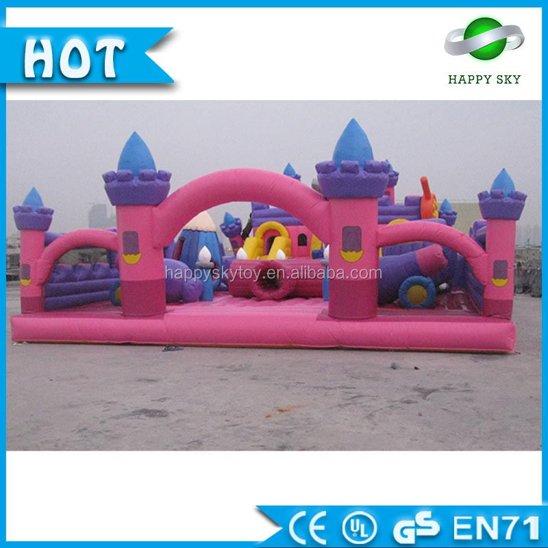 Popular Amusement Park! 0.55mm PVC giant inflatable amusement park for kids and adult to sale