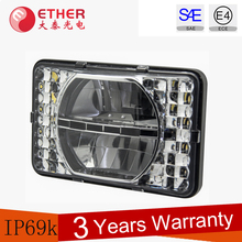 24w DOT standard 4x6 led motorcycle square headlight