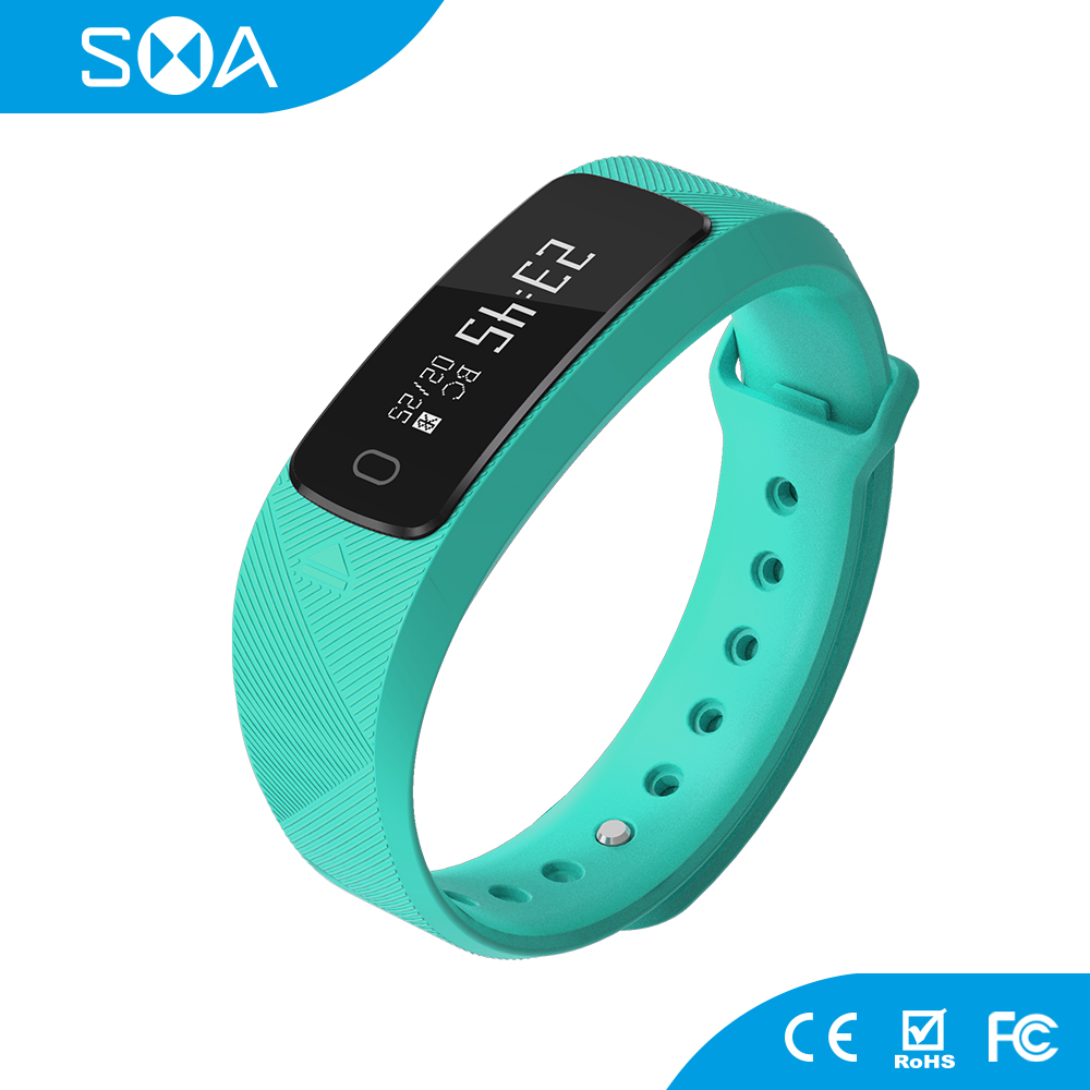 0.91 inch OLED Bluetooth 4.0 Smart Blood Pressure Wrist Watch Heart Rate Monitor