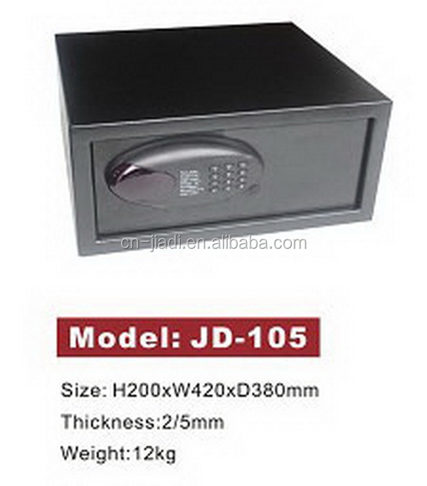Customized promotional branded hotel safe box with key