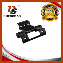 Black extruded aluminum ofset hinges for doors with steel axle