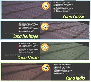 Stone-Chip Coated Steel Roof Tiles