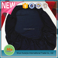 high quality 170gsm polyester spandex fabric black fitted sheet