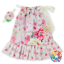 Wholesale Vintage flower girl dress Pretty princess dresses Floral pictures for children gown