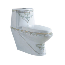 S trap direct flush print toilet arabic wc